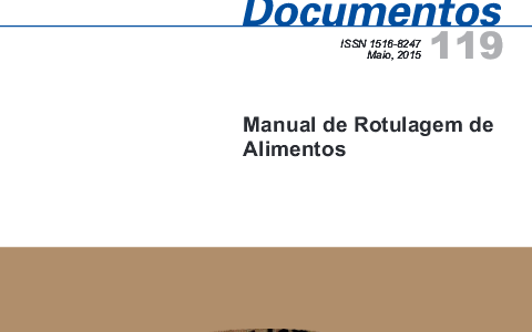 Manual de rotulagem dos alimentos