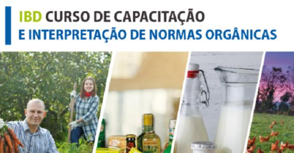 Curso de Capacitação e Interpretação de Normas Orgânicas será realizado pelo IBD em dezembro