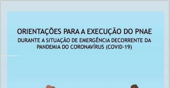 Orientações para execução do PNAE durante a pandemia