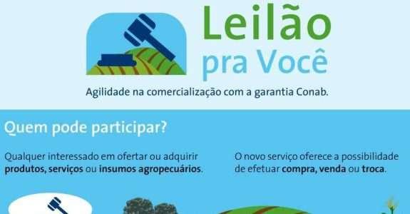 """""""Leilão pra Você"""" plataforma para comercialização de produtos e serviços agropecuários"""