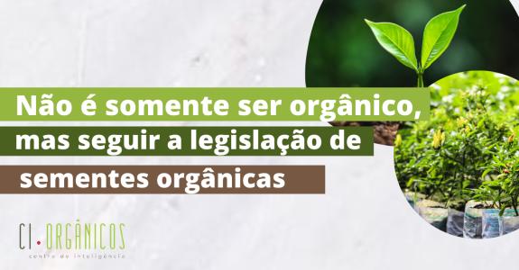 Importância em seguir a legislação de sementes orgânicas.