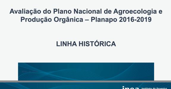 Plano Nacional de Agroecologia e Produção Orgânica: linha histórica