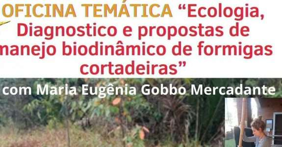 """Oficina Temática """"Ecologia, Diagnostico e propostas de manejo biodinâmico de formigas cortadeiras"""""""